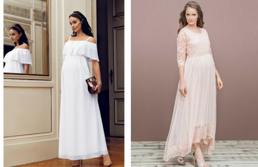 0f252bfa93db6 Bu beyaz hamile elbiseleri genelde bol, salaş ve şık olması ile tercih  ediliyor, bir davette neden giyilmesin? Düğünlerde ...
