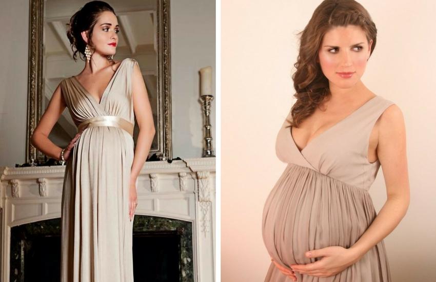 314f41045b597 Göğüslerini sıkıştırmayacak ve belini de serbest bırakacak hamile abiye  modelleri en çok tercih edilenlerden.