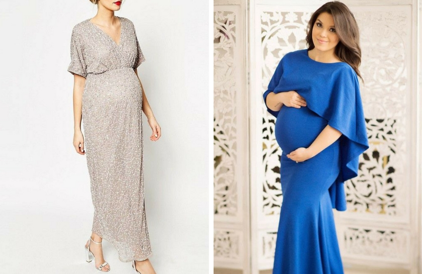 8264ed4fae36f Daha farklı bir görünüm istersen yarasa kollu abiye hamile elbiseleri  tercih edebilirsin.