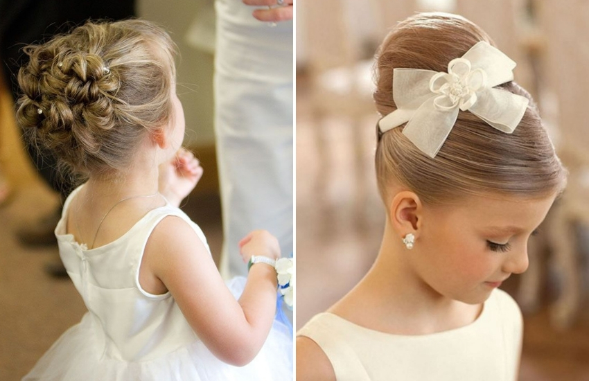 Kids Hair Bun Models: Whether For Wedding Or School!
